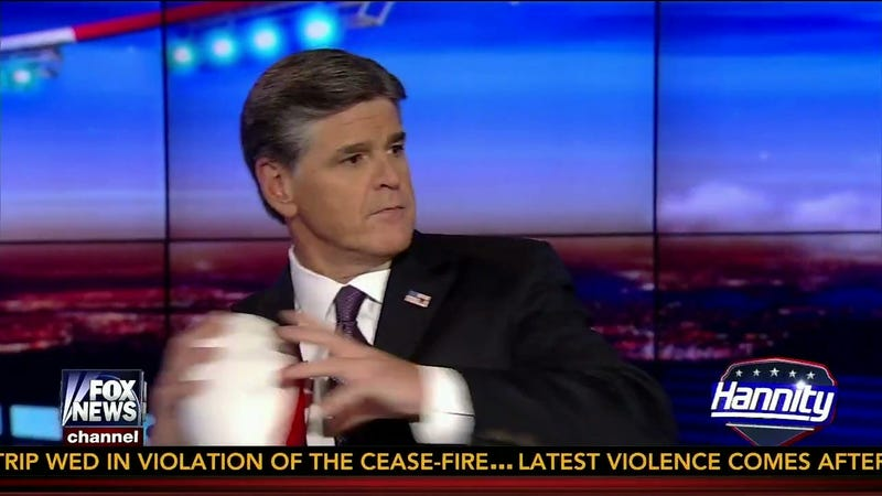 """Sean Hannity Segues From """"Violence In Ferguson"""" With Nerf Football Toss"""