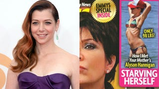 Alyson Hannigan Stretched On