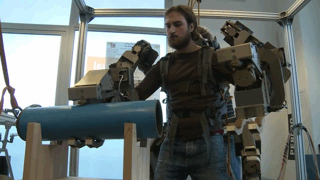 This seriously badass exoskeleton can lift well over 200 pounds