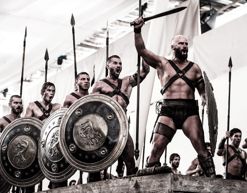 Get this Spartan party started! The Making of 300: Rise of an Empire