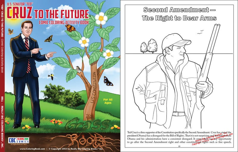 Buy Your Kids This Ted Cruz Coloring Book For Kwanzaa and/or Christmas