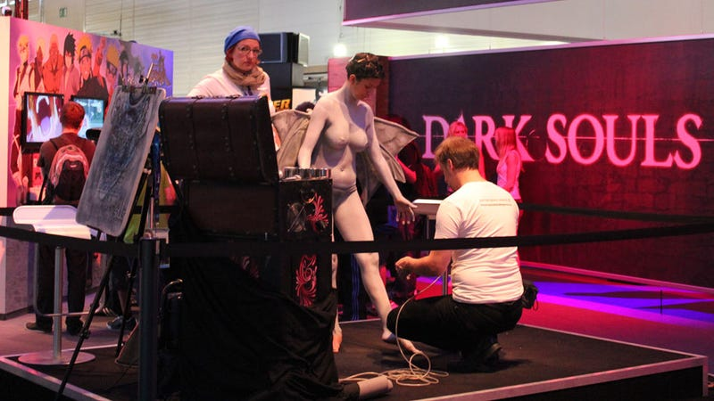Only at Gamescom Would (NSFW) Dark Souls Bodypainting Exist