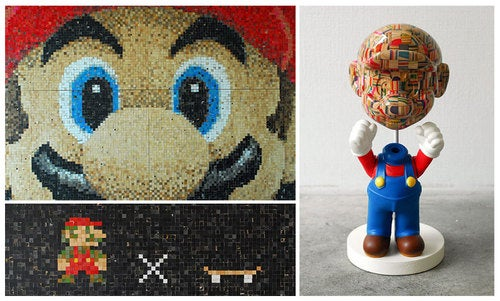 Mario, Built From The Corpses Of Broken Skateboards