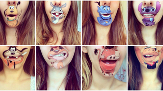 Genius Makeup Artist Transforms Her Lips Into Cartoon Characters