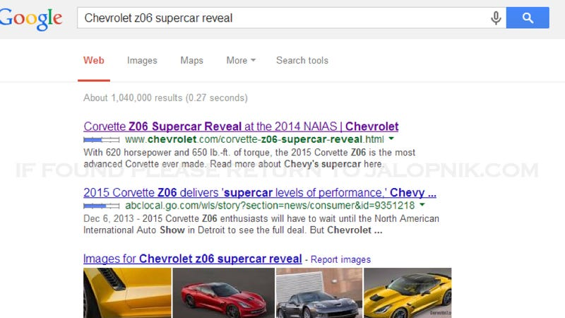 2015 Chevrolet Corvette Z06 Has 620 Horses, 650 Pound Feet Of Torque