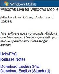 Windows Live Updated For Windows Mobile Devices