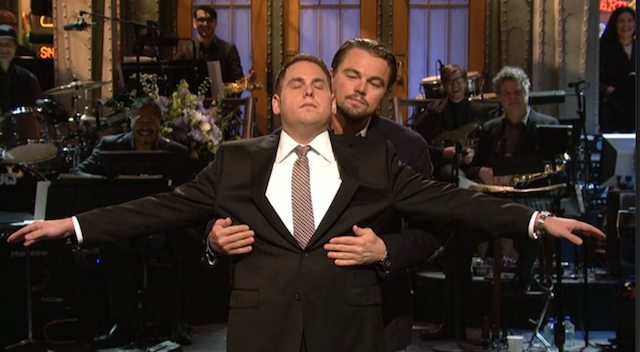 DiCaprio Crashes Jonah Hill's SNL Monologue to Recreate Titanic