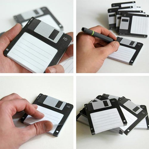 Floppy Disk Post-It Notes Make You Remember Not Just Disks, But Pens Too