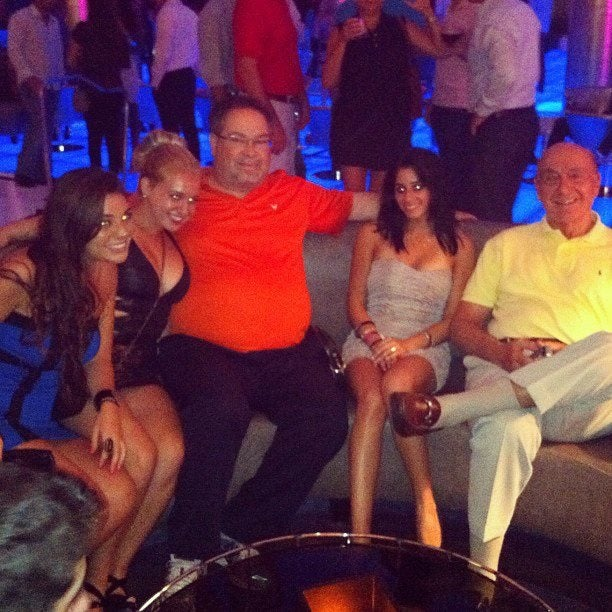 Here's A Photo Of Dick Vitale And The Schwab Out Clubbing In South Beach [UPDATED]
