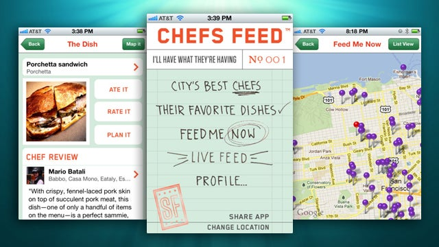 Chefs Feed Offers Chef's Suggestions at Local Restaurants to Help Decide What to Eat