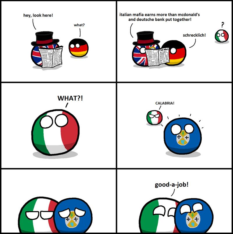 Daily Polandball: The Italian Mafia