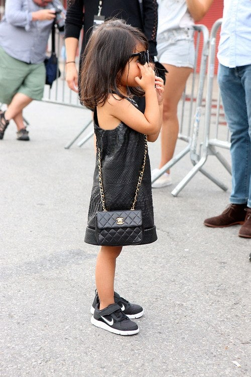 Is your wardrobe as fabulous as this small child's?