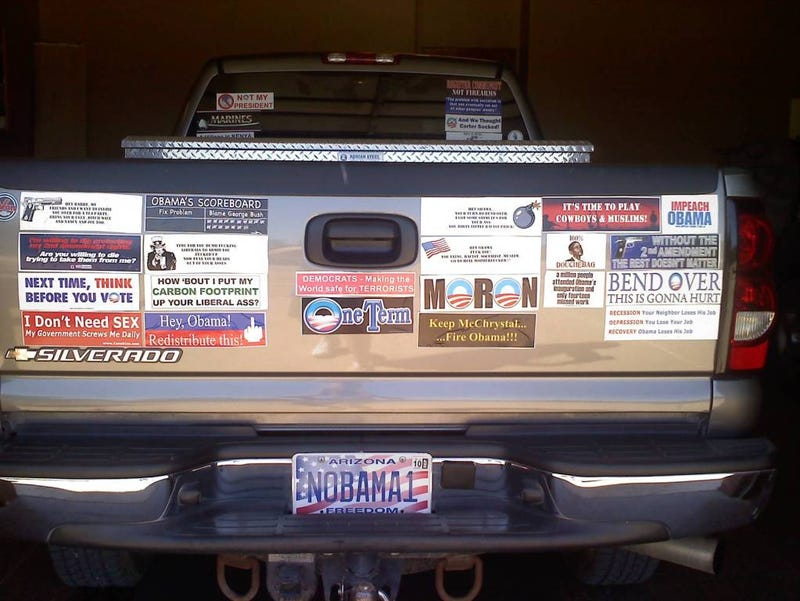 Vanity License Plates, Political Discourse Intersect at Lowest Point for Each