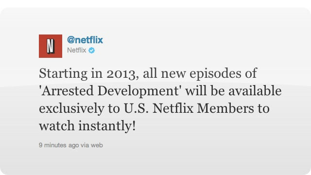 Arrested Development Is Coming Back! Exclusive to Netflix?