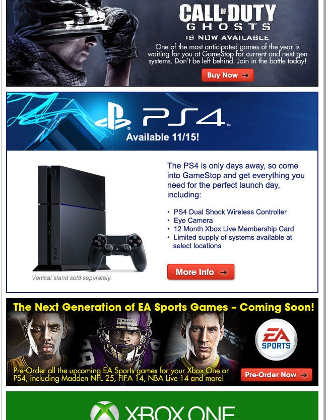GameStop Is Super Helpful, Reminds You To Get Xbox Live For Your PS4