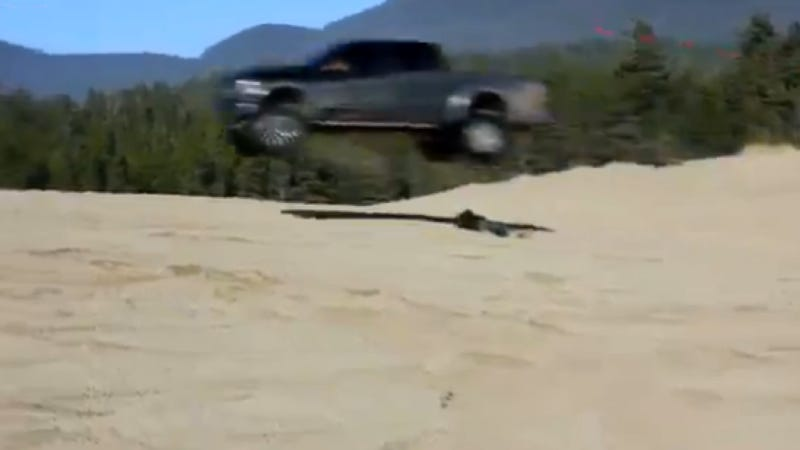 Watch A Ford Raptor Jump Over An Australian Idiot