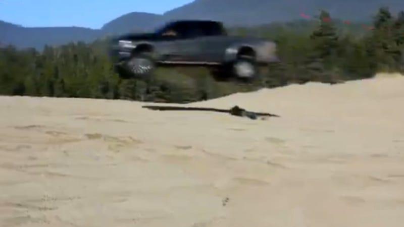 Watch A Ford Raptor Jump Over An Australian Idiot