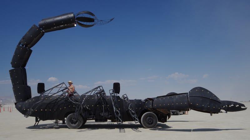 The 3,000-Pound Fire-Breathing Robot Scorpion Roving the Nevada Desert