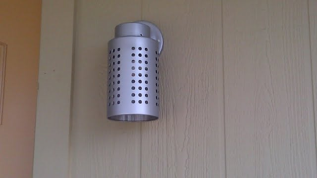 Repurpose an Ikea Utensil Rack Into an Exterior Light