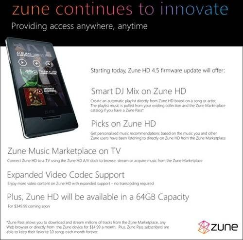 Go Get Your Zune 4.5 Update