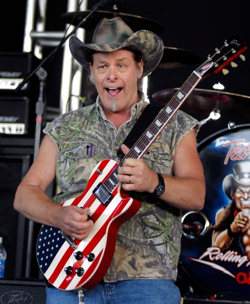Millionaire Dipshit Ted Nugent Stands Up to Tyranny on Hannity