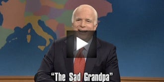 """Sad Grandpa"" Hits Weekend Update"