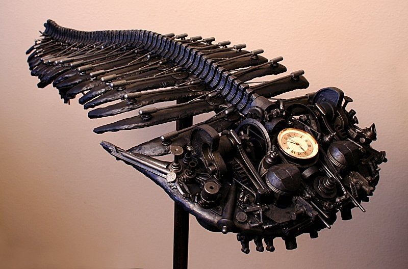 A Trilobite Made of Welded Steel and Time