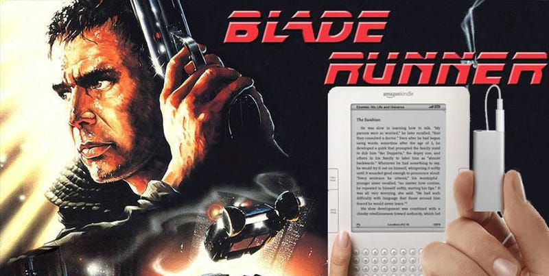 The Kindle 2 and iPod Shuffle Perform Blade Runner