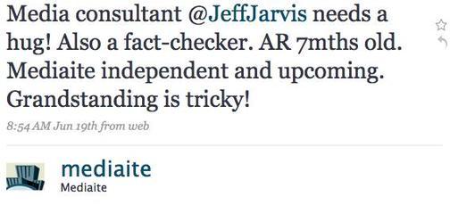 Media Catfight: Rachel Sklar vs. Jeff Jarvis