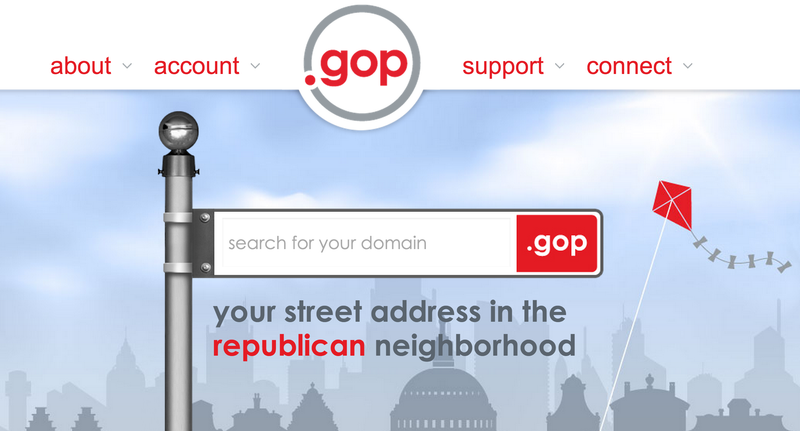 New Meme: Everybody Is Going Crazy Buying Up Weird .gop Domains Today