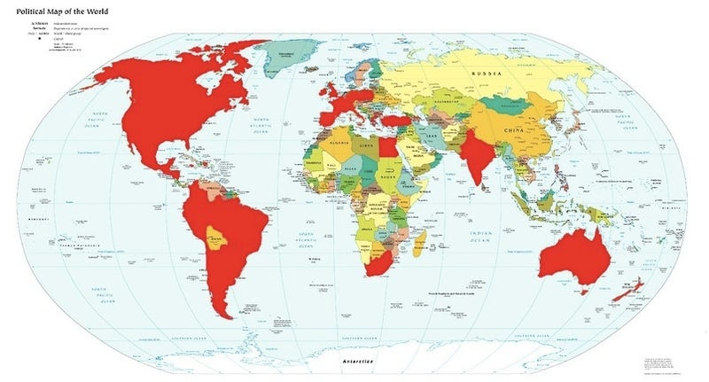 iPhone World Map Charts Jobs' Giant Game Of Risk