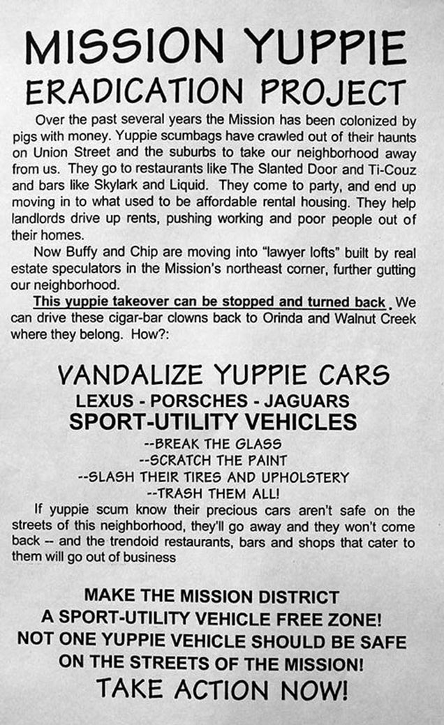 San Francisco Anarchists Slash Tires of Google Shopping Express Van