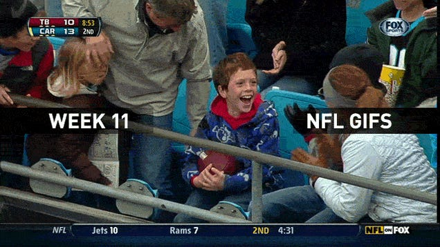 Cam Newton Gives A Small Child A Football And An Epileptic Fit: Your Sunday NFL GIF Roundup [Update]