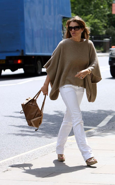 Is Liz Hurley Wearing A Burlap Sack?