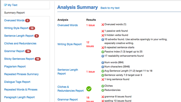 ProWritingAid Checks for Clarity, Repeat Words, and Cliched Phrases
