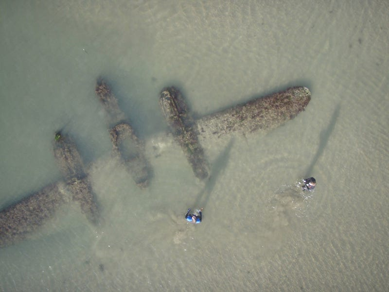 In the event of a water landing, your plane will become a work of art