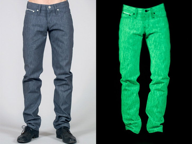 Naked and Famous' Glow in the Dark Jeans Look Rad...ioactive