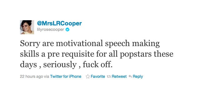 Lily Allen Wants You to Know That She Is Not a Motivational Speaker