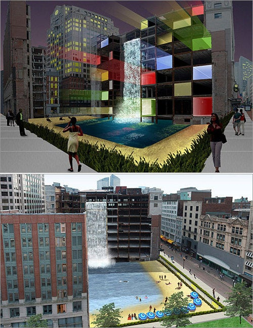 Futuristic Proposals for Boston's Stalled Construction Sites
