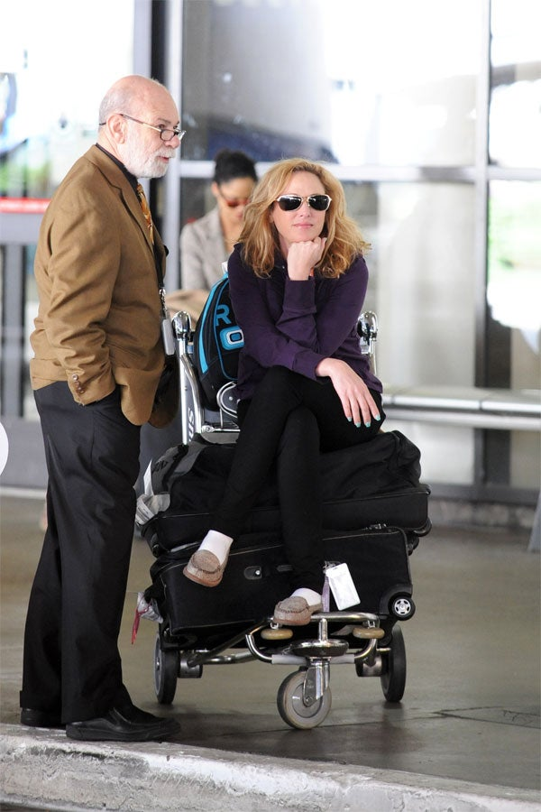 Virginia Madsen Takes A Load Off