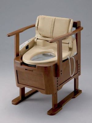 Japanese Wooden Automatic Butt-Spraying Toilet