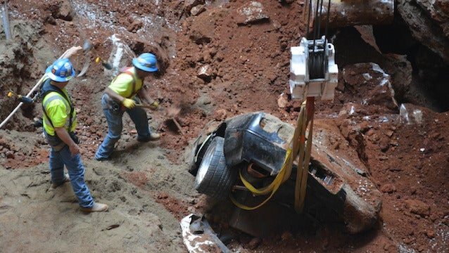 Look At These Stunning Photos From The Corvette Museum Sinkhole