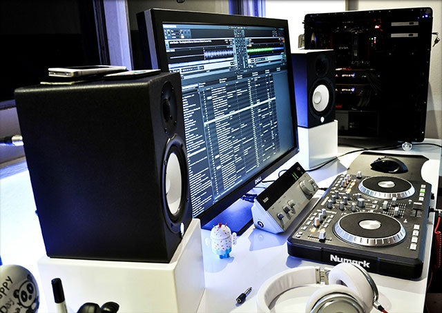 The Futuristic Audio Mixing Workspace