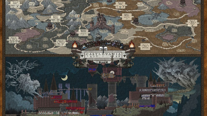 What A Horrible Night To Have Such A Wonderful Castlevania Map