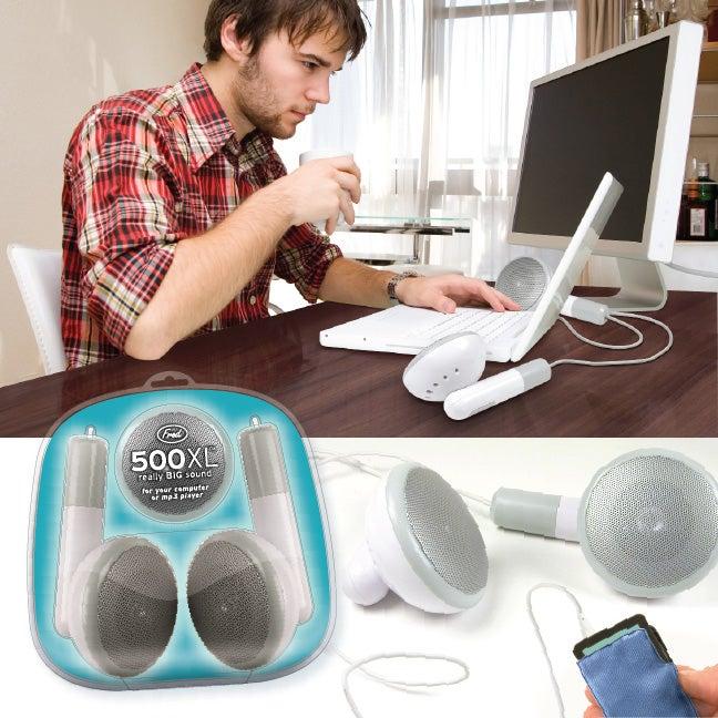 Gigantic 500x White iPod Earbuds Not a Joke
