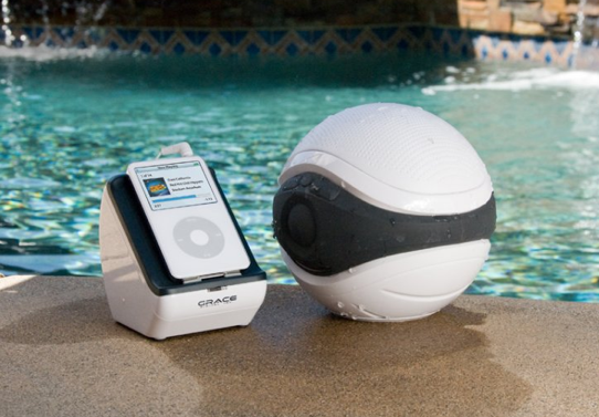 Aqua Sounder Floating Speakerball Makes For a Rough Game of Pool Dodgeball