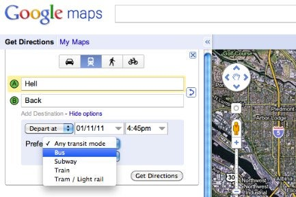 When Taking Public Transit, Google Maps Will Help Minimize Your Time Spent Outdoors