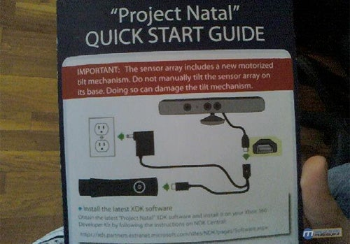 Project Natal & Its Instruction Manual(!) In The Wild