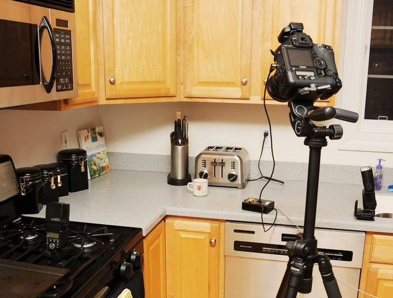 Crazy Wireless Camera Flash Setup Captures Mouse, None the Wiser, As It Meets Its Maker