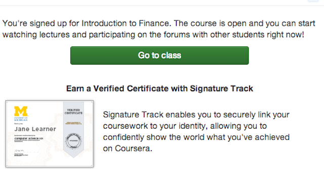 Take Free Personal Finance Classes with Coursera